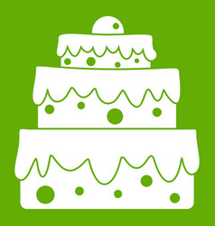 big cake icon green vector image