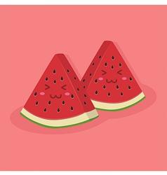 Cute Watermelon Fruit Mascot Pink vector image vector image