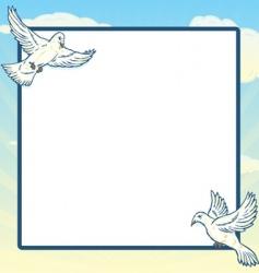 dove in flight frame design vector image