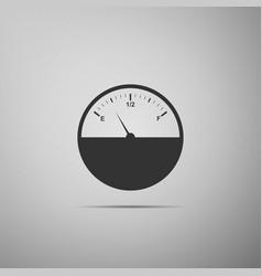 fuel gauge flat icon on grey background vector image vector image