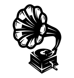 gramophone icon for logo template vector image