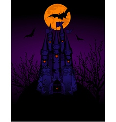 halloween haunted castle vector image vector image