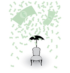 rain from money vector image