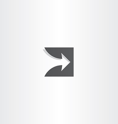 Stylized arrow black logo design vector