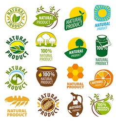 biggest collection of logos natural product vector image vector image