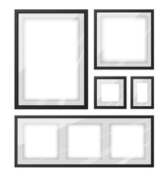 Black picture frame set vector image