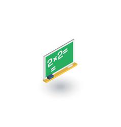 Blackboard chalkboard isometric flat icon 3d vector