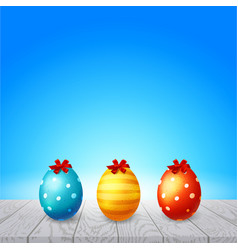 colorful eggs happy easter vector image vector image