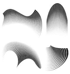 halftone swirls vector image vector image