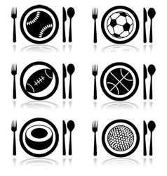 Hungry for sports vector image vector image