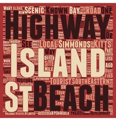 St Kitts Scenic Highway text background wordcloud vector image vector image