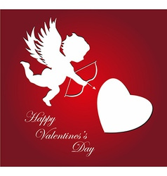 Valentines day cupid background vector image