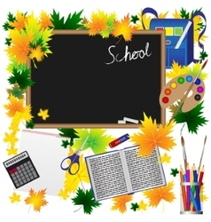 Back to School Supplies Sketchy Doodles with vector image