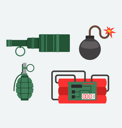 bomb and dynamite weapon vector image vector image