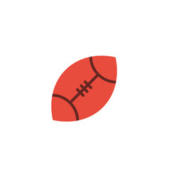 flat rugby element of flat vector image
