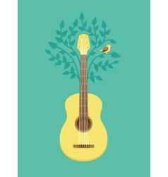 music poster in flat retro style vector image vector image