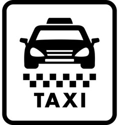 Taxi car on white cab icon vector