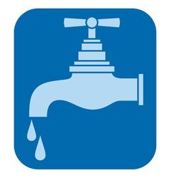 water tap-water faucet vector image