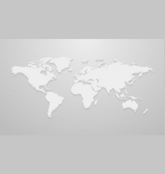 World map mockup for infographics on the gray vector