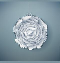 Decorative paper cut wreath vector