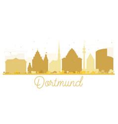 dortmund city skyline golden silhouette vector image vector image