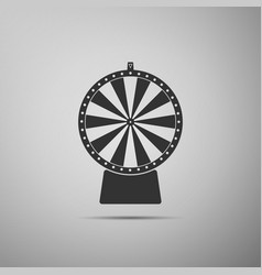 lucky wheel flat icon on grey background vector image