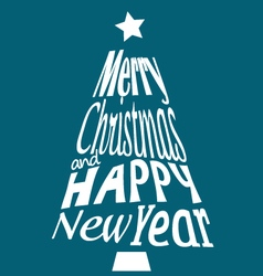Merry Christmas and Happy New Year greetings postc vector image vector image