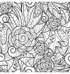 seamless herbal pattern vector image vector image