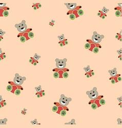 teddy bear seamless pattern bear doll seamless vector image