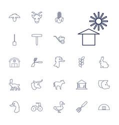 22 farm icons vector