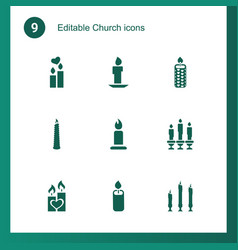 9 church icons vector image