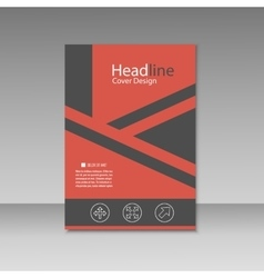 Abstract triangle line brochure cover design A4 vector