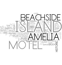 amelia island inn text word cloud concept vector image