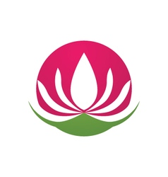 Beauty Lotus Logo Template vector