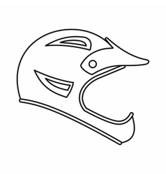Bicycle helmet icon outline style vector image
