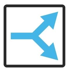Bifurcation Arrow Right Framed Icon vector