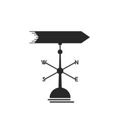 Black weather vane icon vector
