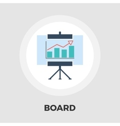 Board flat icon vector image