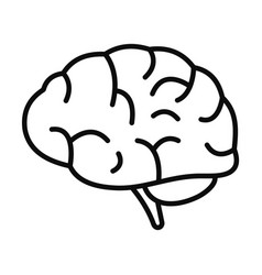Brain power icon outline style vector