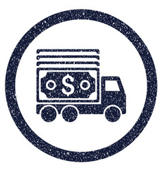 cash lorry rounded grainy icon vector image
