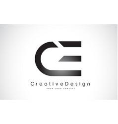 Ce c e letter logo design creative icon modern vector