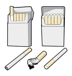 Cigarette pack cartoon graphic vector