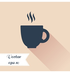 Cofee cup silhouette icon vector