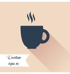 Coffee silhouette icon vector