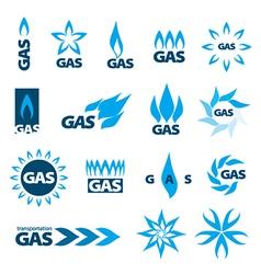 Collection logos natural gas vector