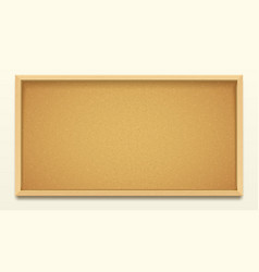 Cork board wood frame background pin noticeboard vector