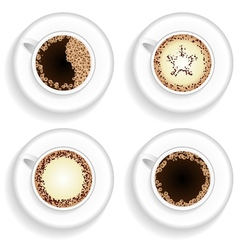 Cup of coffee and cappuccino vector image