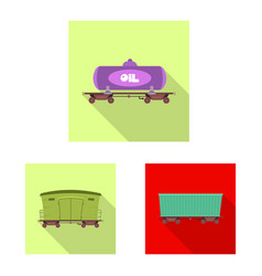 design of train and station logo vector image