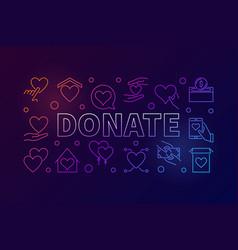Donate colorful horizontal vector