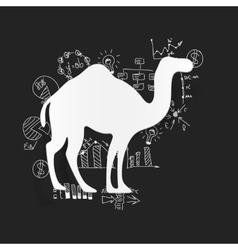 Drawing business formulas camel vector